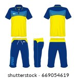 sport suit fashion set isolated. | Shutterstock .eps vector #669054619