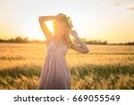 portraits of young woman having ... | Shutterstock . vector #669055549