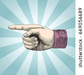 human handpoint sketch style...   Shutterstock .eps vector #669056689