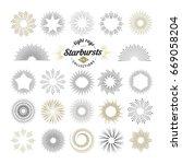 rays and starburst design... | Shutterstock .eps vector #669058204