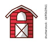 farm stable building icon | Shutterstock .eps vector #669063961