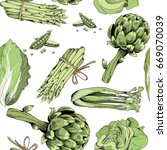 vector illustration of green... | Shutterstock .eps vector #669070039
