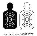 men paper targets | Shutterstock .eps vector #669072379