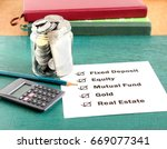 investment options  including... | Shutterstock . vector #669077341
