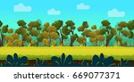 game background with forest and ...   Shutterstock .eps vector #669077371