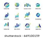 marketing  finance  sales ... | Shutterstock .eps vector #669100159