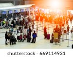 blurred background of people... | Shutterstock . vector #669114931