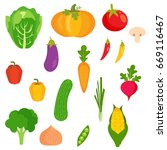 veggies vector | Shutterstock .eps vector #669116467