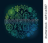 bioenergy round colorful... | Shutterstock .eps vector #669116587
