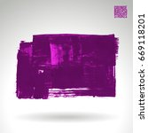 purple brush stroke and texture.... | Shutterstock .eps vector #669118201