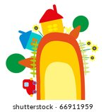 baby illustration   farm | Shutterstock .eps vector #66911959