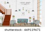 furniture. interior design.... | Shutterstock .eps vector #669119671