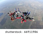 skydiving photo | Shutterstock . vector #66911986