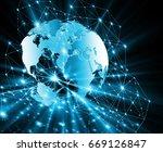 best internet concept of global ... | Shutterstock . vector #669126847