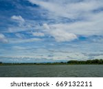 blue sky with lake | Shutterstock . vector #669132211