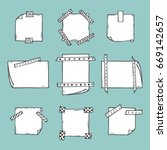 strips of masking tape and note ...   Shutterstock .eps vector #669142657