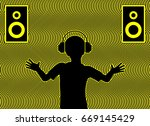 feeling the music. sound... | Shutterstock . vector #669145429