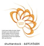 abstract background with orange ... | Shutterstock .eps vector #669145684