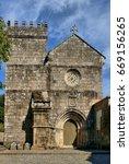 romanesque monastery of cete in ... | Shutterstock . vector #669156265