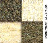 abstract golden seamless... | Shutterstock .eps vector #669176305