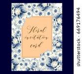 romantic invitation. wedding ...   Shutterstock .eps vector #669176494