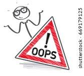 oops sorry business man. vector ... | Shutterstock .eps vector #669179125