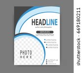 brochure template flyer design... | Shutterstock .eps vector #669180211