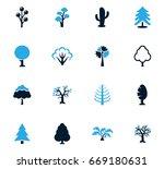 tree vector icons for user... | Shutterstock .eps vector #669180631