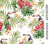 bright colorful watercolor... | Shutterstock . vector #669183589