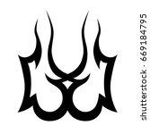 tribal tattoo art designs.... | Shutterstock .eps vector #669184795