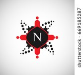 people logo with letter n... | Shutterstock .eps vector #669185287