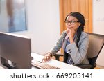 another day at work | Shutterstock . vector #669205141