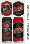 two vector beer labels in retro ... | Shutterstock .eps vector #669206155