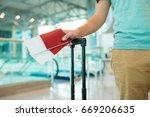 closeup of man holding... | Shutterstock . vector #669206635