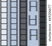 set of vector film strip... | Shutterstock .eps vector #669206677
