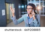 she's frustrated after long day ... | Shutterstock . vector #669208885