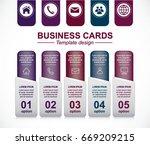 business card design. dark... | Shutterstock .eps vector #669209215