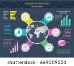 colorful business info graphic... | Shutterstock .eps vector #669209221