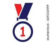 blue award icon design vector | Shutterstock .eps vector #669210499