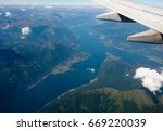aerial view of lake como in... | Shutterstock . vector #669220039