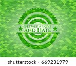 between love and hate realistic ... | Shutterstock .eps vector #669231979