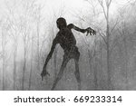 3d illustration of scary... | Shutterstock . vector #669233314