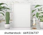 vertical frame poster mock up... | Shutterstock . vector #669236737