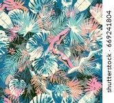 exotic summer endless... | Shutterstock .eps vector #669241804