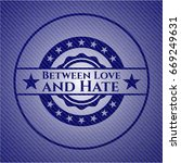 between love and hate with jean ... | Shutterstock .eps vector #669249631