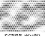 abstract halftone dotted... | Shutterstock .eps vector #669262591
