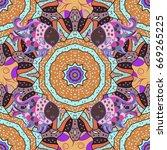 invitation card. vector vintage ... | Shutterstock .eps vector #669265225