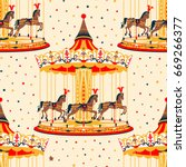Seamless Pattern With Carousel...