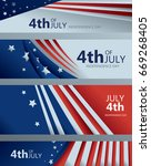 4th of july banner collection ... | Shutterstock .eps vector #669268405