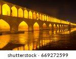 esfahan iran  si o seh pol...   Shutterstock . vector #669272599